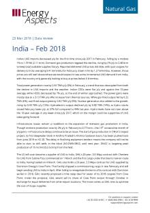 2018-03-23 Natural Gas - Global LNG - India – Feb 2018 cover