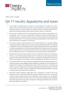 2018-03-09 Natural Gas - North America - Q4 17 results: Appalachia and taxes cover