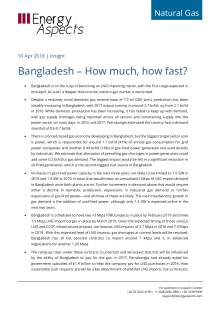 2018-04-10 Natural Gas - Global LNG - Bangladesh – How much, how fast? cover