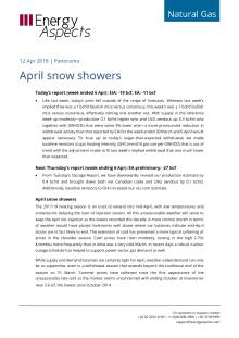 2018-04-12 Natural Gas - North America - April snow showers cover