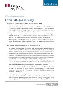 2018-04-17 Natural Gas - North America - Lower 48 gas storage cover