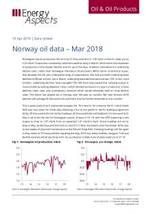 2018-04 Oil - Data review - Norway oil data – Mar 2018 cover