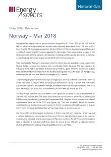 2018-04-19 Natural Gas - Europe - Norway – Mar 2018 cover