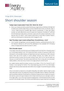 2018-04-19 Natural Gas - North America - Short shoulder season cover